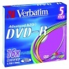 DVD-R Verbatim 4,7 GB, 16x, slim box, balení 5 ks