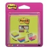 Bloček Post-it Easy Select Cube, 76x76 mm, 4x75 lístků